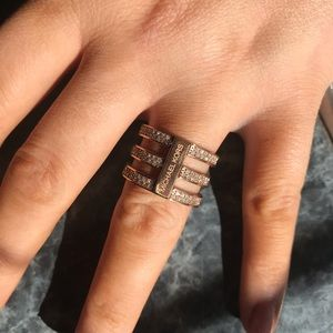 Rose gold Michael Kors ring